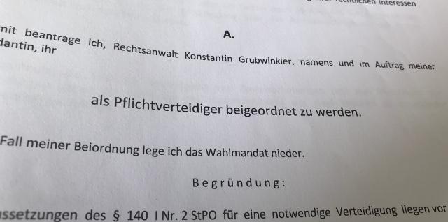 Pflichtverteidiger in Eggenfelden, Wie bekomme ich einen Pflichtverteidiger